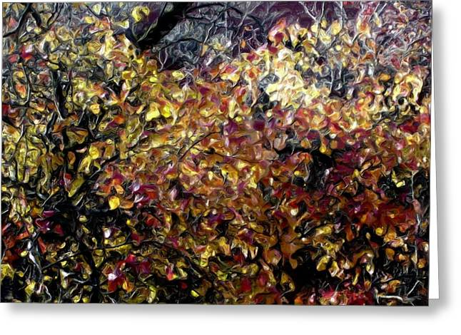 Autumn Window Greeting Card