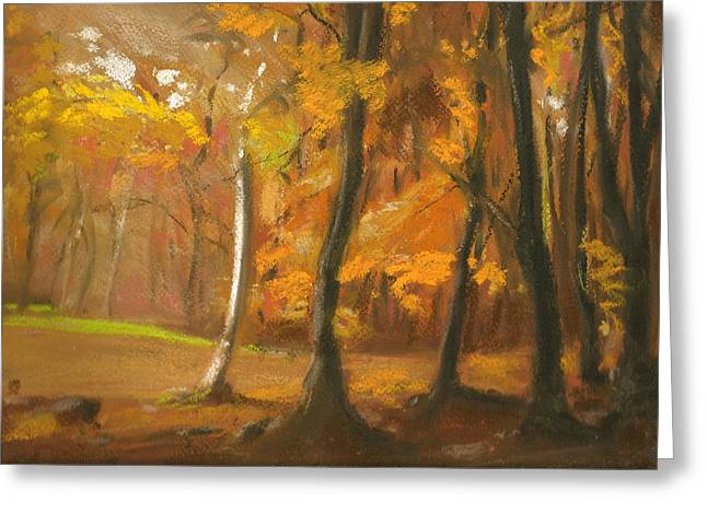 Autumn Woods 5 Greeting Card by Paul Mitchell