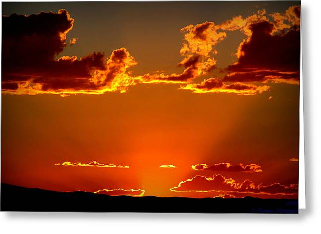 Autumn's Sunset Greeting Card by Aaron Burrows