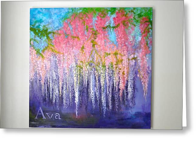 Ava Greeting Card by Lori Kesten
