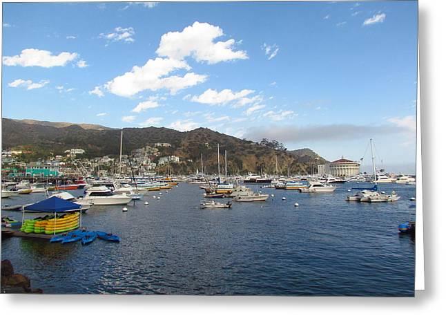 Avalon Bay Catalina Island Greeting Card by Tony and Kristi Middleton