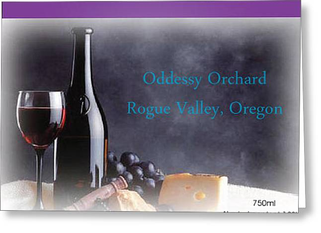 Avalon Wine Label Greeting Card by Teri Schuster