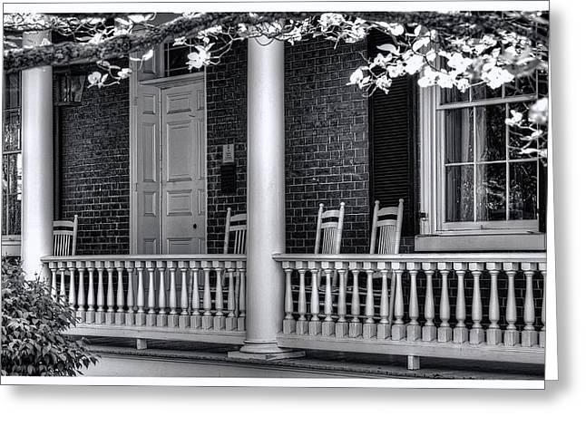 Avenel Porch - Bedford - Virginia Greeting Card by Steve Hurt