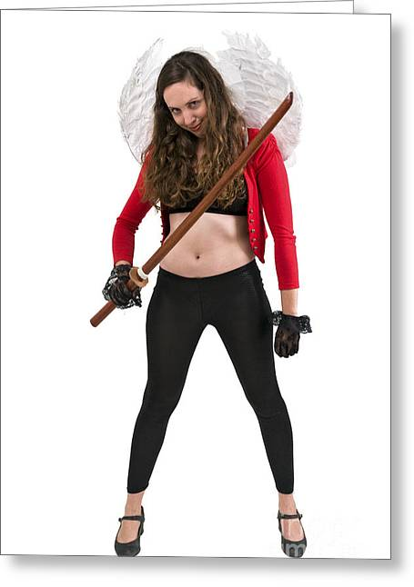 Avenging Angle With A Sword  Greeting Card by Ilan Rosen