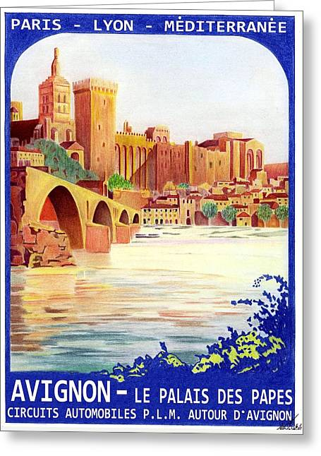 Avignon Deco Greeting Card by Lyle Brown
