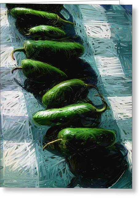Avila Beach Peppers Greeting Card