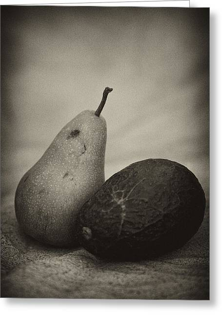 Greeting Card featuring the photograph Avocado And Pear by Hugh Smith