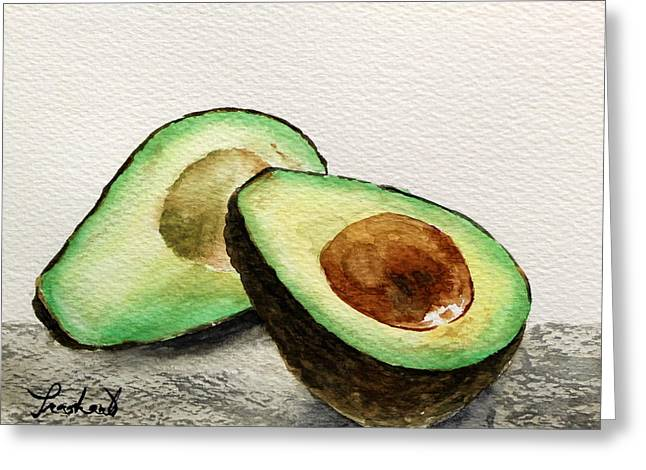 Avocado Greeting Card by Prashant Shah