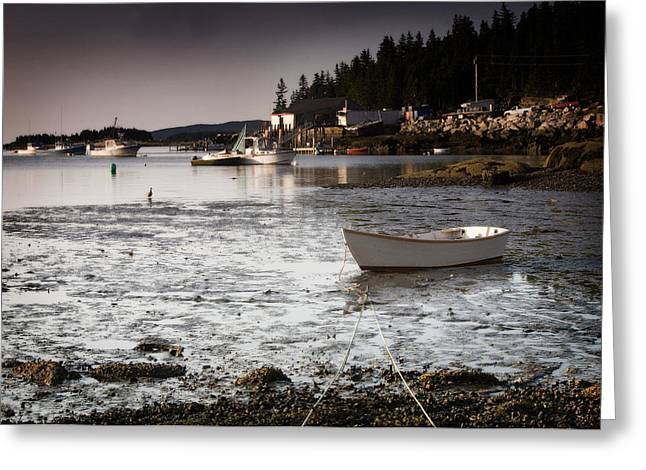 Awaiting The Tide Greeting Card by Don Powers
