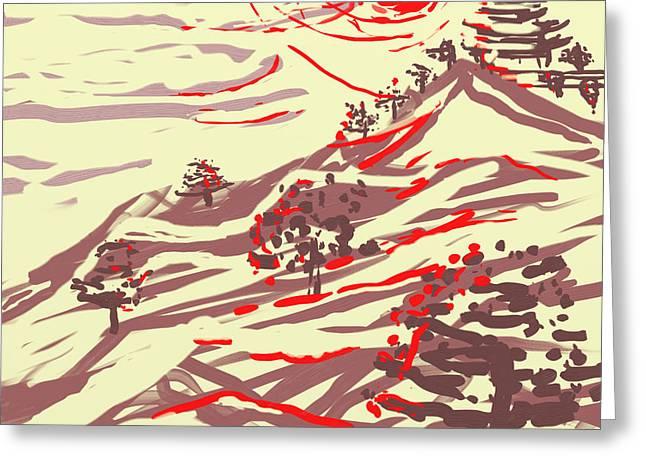 Awakening Hill Greeting Card by MURUMURU By FP