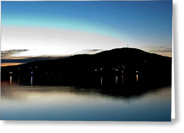Awanadjo Across The Water Greeting Card by Greg DeBeck