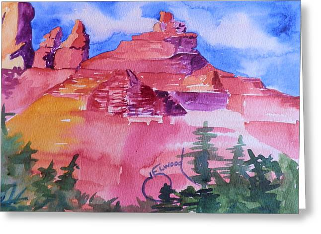 Awesome Red Mountains Greeting Card