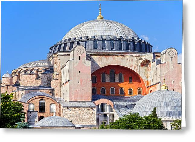 Ayasofya Byzantine Landmark Greeting Card by Artur Bogacki