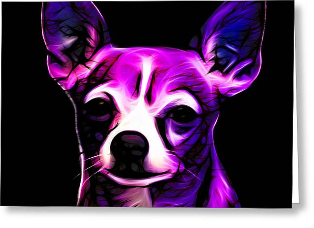Aye Chihuahua - Magenta Greeting Card