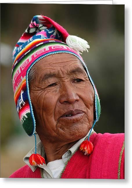 Aymara Native. Republic Of Bolivia. Greeting Card