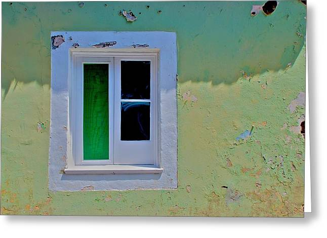 Azores Window Greeting Card by Eric Tressler