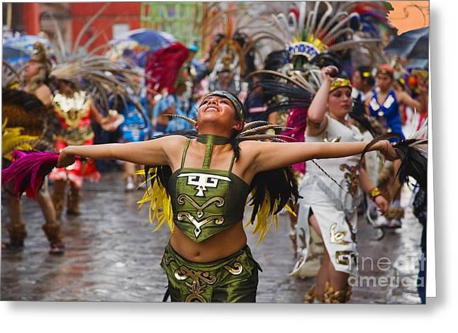 Aztec Dancer - San Miguel De Allende Greeting Card