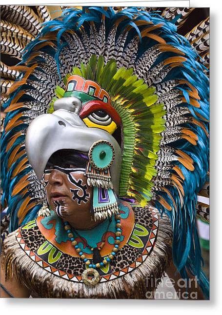Greeting Card featuring the photograph Aztec Eagle Dancer - Mexico by Craig Lovell