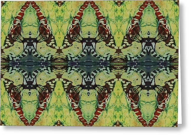 Azuraz Buff Tiled Greeting Card by Sue Duda
