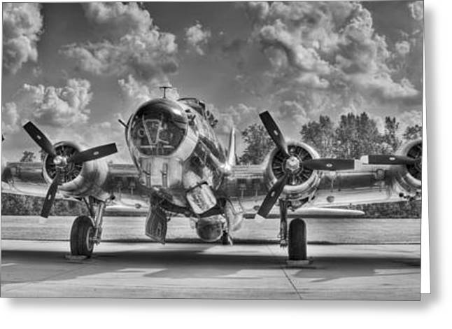B-17 Greeting Card by Williams-Cairns Photography LLC