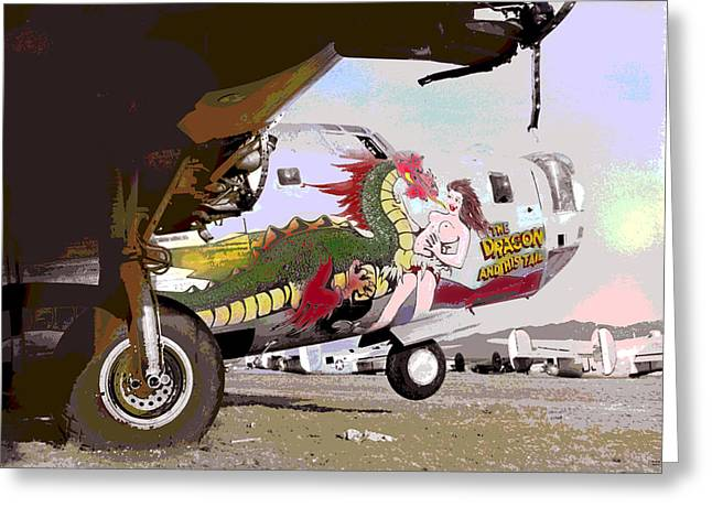 B 24 Liberator Greeting Card by Charles Shoup