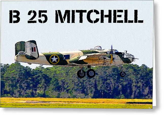 B 25 Mitchell Bomber Greeting Card by David Lee Thompson