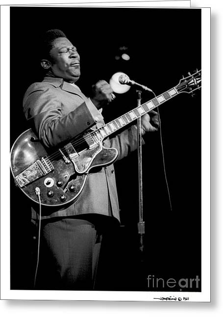 B. B. King 3 Greeting Card
