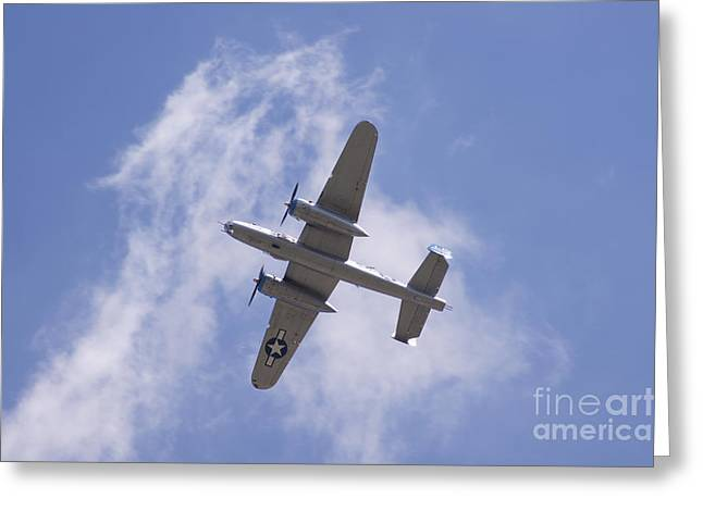 B25 Greeting Card by Robert E Alter Reflections of Infinity