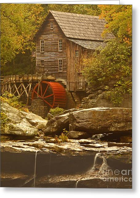 Babcock Glade Creek Grist Mill Autumn  Greeting Card
