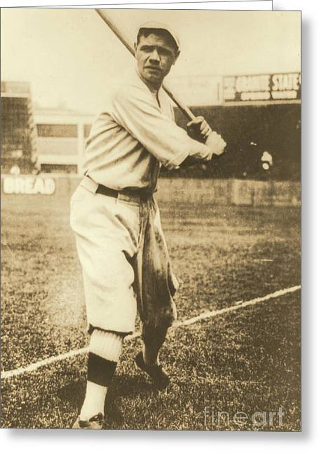 Babe Ruth 1920 Greeting Card by Padre Art