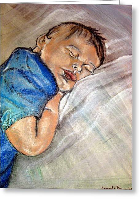baby Baptism Greeting Card by Amanda Dinan