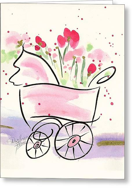 Baby Buggy Note Card Greeting Card