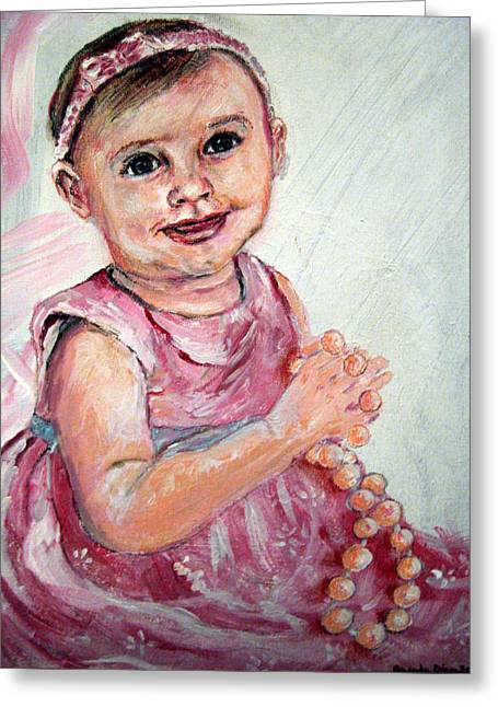 Baby Girl 2 Greeting Card by Amanda Dinan