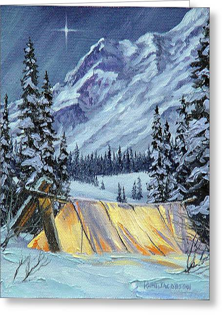 Greeting Card featuring the painting Baby Its Cold Outside by Kurt Jacobson