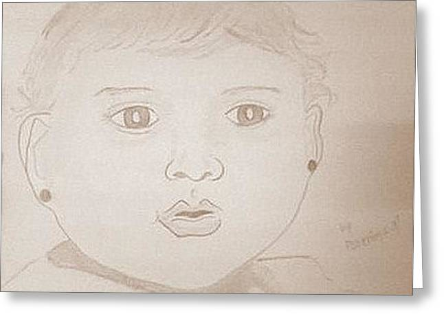 Baby  Greeting Card by Poornima M