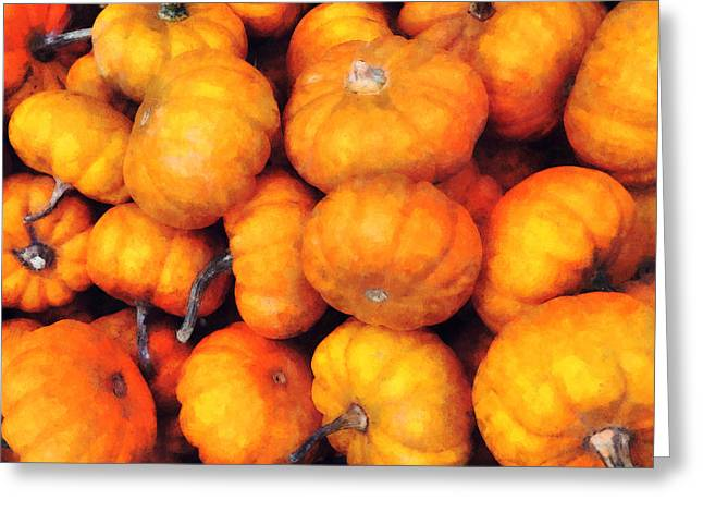 Baby Pumpkins Greeting Card by Susan Savad