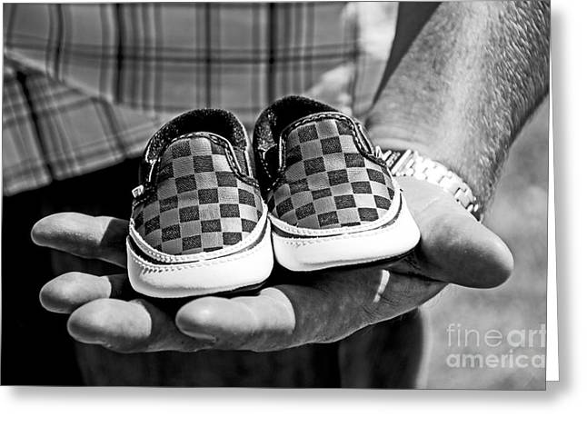 Baby Shoes Greeting Card by Baywest Imaging