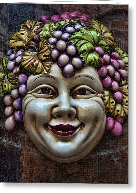 Bacchus God Of Wine Greeting Card by David Smith