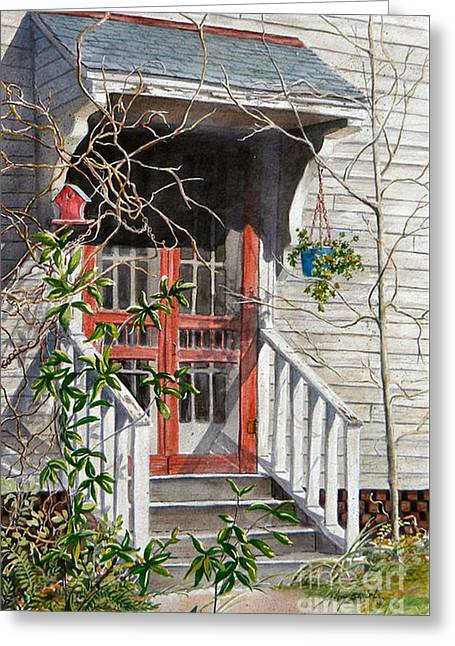 Back Door Friends  Sold Greeting Card