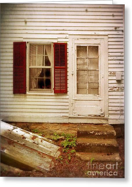 Back Door Of Old Farmhouse Greeting Card by Jill Battaglia