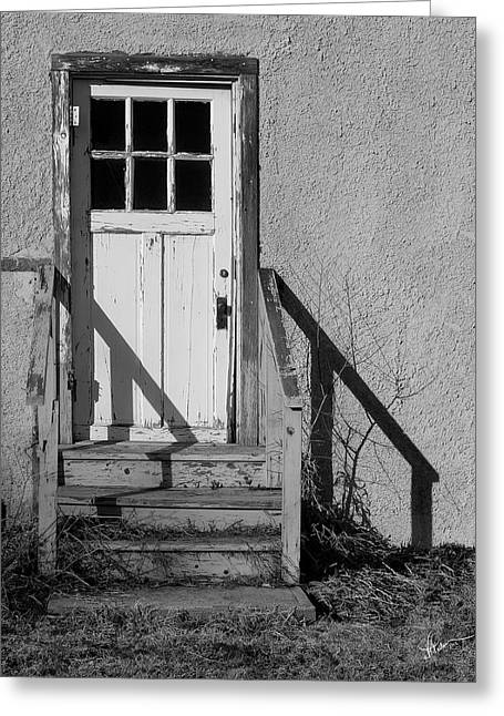 Back Door Greeting Card by Vicki Pelham