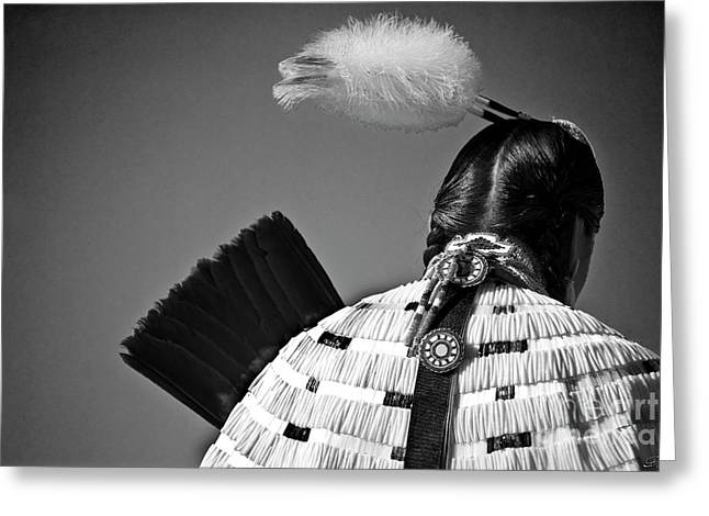 Back Feather Greeting Card by Diego Re