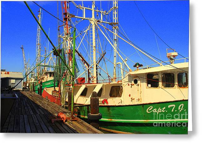 Back In The Harbor Greeting Card by Susanne Van Hulst