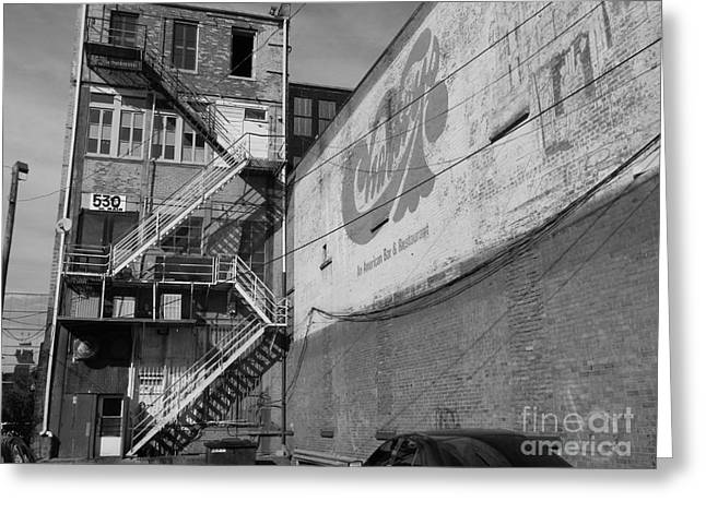 Greeting Card featuring the photograph Back Of Historic Louisville Building by Utopia Concepts