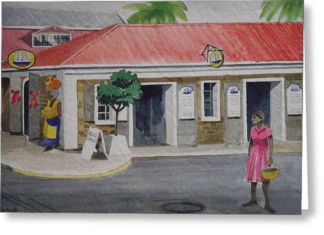 Back Street- Charlotte Amalie Greeting Card by Robert Rohrich