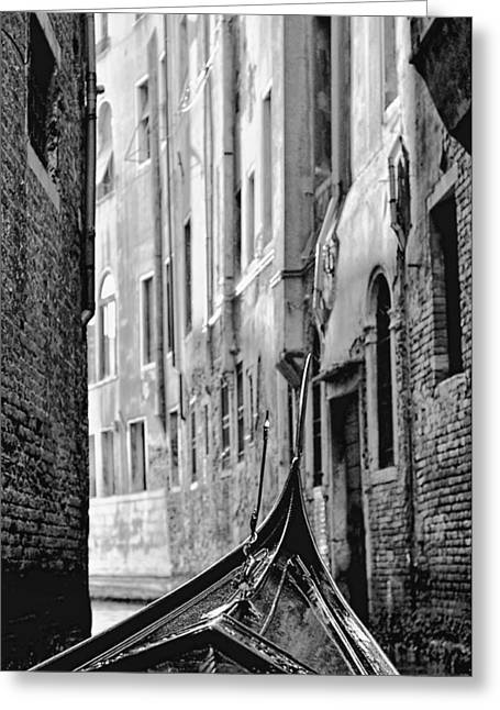 Back Street Gondola Greeting Card by Graham Hawcroft pixsellpix