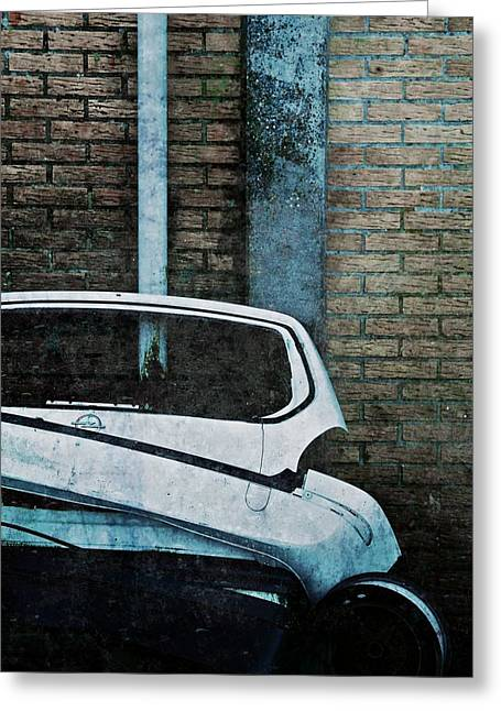 Back To The Wall Greeting Card by Odd Jeppesen