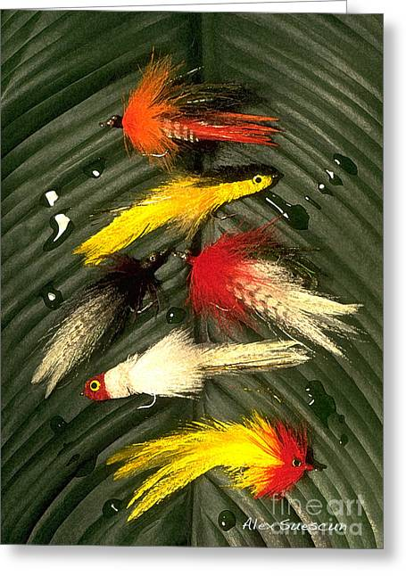 Backcountry Flies Greeting Card