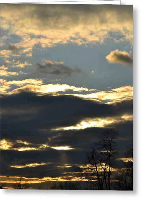 Backlit Clouds Greeting Card