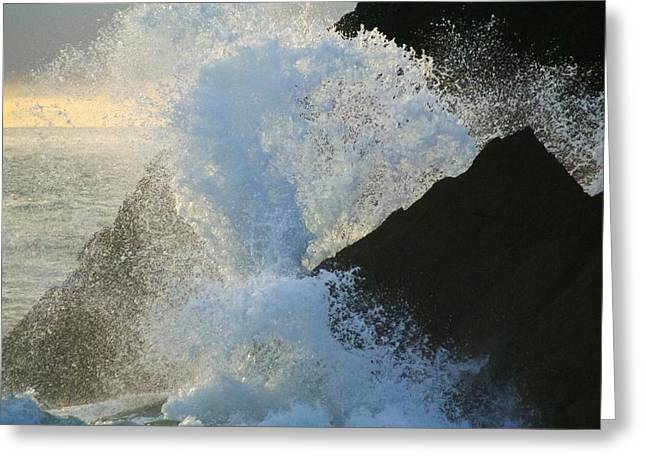 Backlit Wave 2 Greeting Card by Michael Courtney